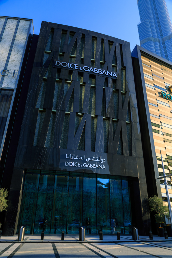 Dolce and Gabbana Exterior DXB Mall - 05